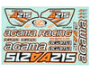 Agama A215 Decal Sheet