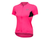 Pearl Izumi Women's Select Pursuit Short Sleeve Jersey (Screaming Pink/Black) (L)