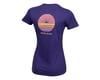 Image 2 for Pearl Izumi Women's Organic Cotton Crewneck T-Shirt (Sunset Wheel Iris)