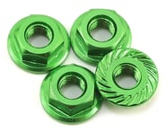 175RC Aluminum 4mm Serrated Wheel Nuts (Green) | alsopurchased