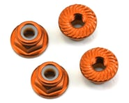 175RC Aluminum 4mm Serrated Locknuts (Orange) | relatedproducts