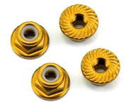175RC Aluminum 4mm Serrated Locknuts (Gold) | alsopurchased