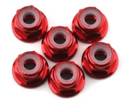 175RC Lightweight Aluminum M3 Flanged Lock Nuts (Red) (6) | relatedproducts