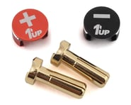 1UP Racing LowPro Bullet Plug Grips w/4mm Bullets (Black/Red) | product-also-purchased