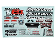 Team Associated T6.1 Decal Sheet | relatedproducts