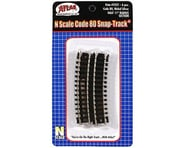 "Atlas Railroad N Code 80 11"" Radius 1/2 Curve (6) 