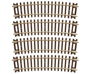 "Atlas Railroad HO-Gauge Code 83 Snap-Track 18"" Radius 1/2 Curve (4) 