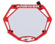 Answer 3D BMX Number Plate (Red) (Pro) | alsopurchased