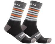 Castelli Men's Gregge 15 Socks (Dark Grey/Orange) | relatedproducts
