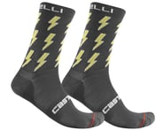 Castelli Men's Pazzo 18 Socks (Dark Grey/Yellow) | relatedproducts