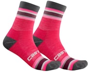 Castelli Striscia 13 Women's Socks (Electric Magenta) | relatedproducts