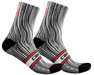 Castelli Illusione Women's Sock (Black/White) | alsopurchased