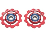 CeramicSpeed SRAM 11-speed Pulley Wheels: Alloy, Red | relatedproducts