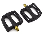 """Colony Fantastic Plastic Pedals (Black/Gold) (Pair) (9/16"""") 