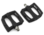 "Colony Fantastic Plastic Pedals (Black/Silver) (Pair) (9/16"") 