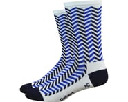 "DeFeet Aireator 6"" Barnstormer Vibe Socks (White/Navy Blue) 