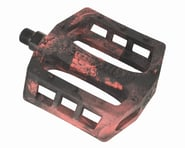 "Demolition Trooper Plastic Pedals (Black/Red Swirl) (Pair) (9/16"") 