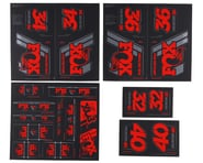 Fox Suspension Heritage Decal Kit (Red) | relatedproducts