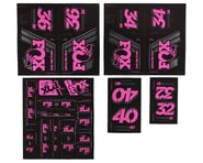 Fox Suspension Heritage Decal Kit for Forks & Shocks (Pink) | relatedproducts