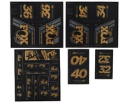 Fox Suspension Heritage Decal Kit for Forks & Shocks (Gold) | alsopurchased