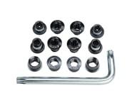 FSA Torx T-30 Alloy Road Triple Chainring Nut/Bolt Set w/ Tool (Black) | relatedproducts