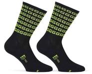 "Giordana FR-C Tall ""G"" Socks (Black/Acid Green) | alsopurchased"
