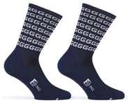 "Giordana FR-C Tall ""G"" Socks (Blue/White) 