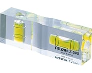 Hozan Z-340 Level Gauge 75mm x 25mm x 15mm Clear Plastic, 31g | relatedproducts