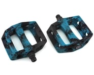 "Mission Impulse PC Pedals (Black/Blue Splash) (9/16"") | alsopurchased"