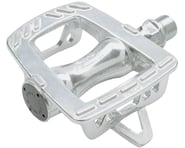 "Mks GR-9 Platform Road Pedals: 9/16"" Toe Clip Compatible Alloy Silver 