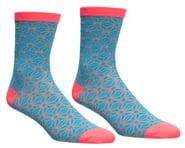 Supacaz SupaSox Asanoha Socks (Neon Blue/Coral) | relatedproducts