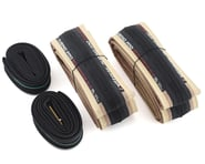 Vittoria Rubino Pro Road Tire Twin Pack (Tan Wall) (w/ Presta Tubes) | product-related