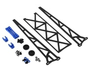 "DragRace Concepts 10"" Slider Wheelie Bar w/Plastic Wheels (Blue) 