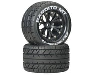 """DuraTrax Bandito MT 2.8"""" 2WD Mounted Rear C2 Tires, Black (2) 