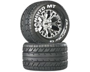 """DuraTrax Bandito MT 2.8"""" Mounted 1/2"""" Offset Tires, Chrome (2) 