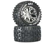 """DuraTrax Lockup MT 2.8"""" 2WD Mounted Rear C2 Tires (Chrome) (2) 