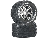 """DuraTrax Sidearm MT 2.8"""" Mounted 1/2"""" Offset C2 Tires, Chrome (2) 