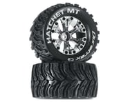"DuraTrax Hatchet Monster Truck 2.8"" Mounted Offset Tires (Chrome)(2) 
