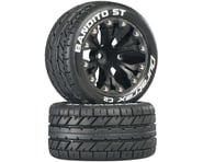 "DuraTrax Bandito ST 2.8"" 2WD Mounted Front C2 Tires (Black) (2) 