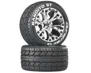 """DuraTrax Bandito ST 2.8"""" 2WD Mounted Front C2 Tires (Chrome) (2) 