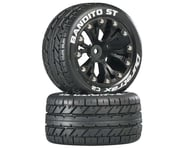 "DuraTrax Bandito ST 2.8"" Mounted 2WD Rear Truck Tires (Black) (2) 