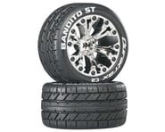 "DuraTrax Bandito ST 2.8"" Mounted Rear Truck Tires (Chrome) (2) (1/2 Offset) 