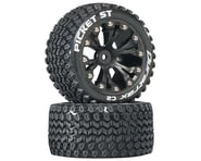 "DuraTrax Picket ST 2.8"" Mounted 2WD Rear Truck Tires (Black) (2) 