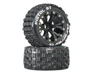 """DuraTrax Pistol ST 2.8"""" 2WD Mounted Front C2 Tires, Black (2) 