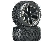 "DuraTrax Sixpack ST 2.8"" Mounted Nitro Rear Truck Tires (Black) (2) (1/2 Offset) 