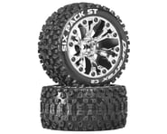 """DuraTrax Six Pack ST 2.8"""" 2WD Mounted 1/2"""" Offset Tires, Chrome (2)   alsopurchased"""