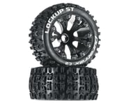 """DuraTrax Lockup ST 2.8"""" 2WD Mounted Front Tires (Black) (2) 