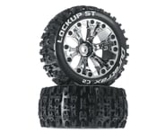 """DuraTrax Lockup ST 2.8"""" Mounted Offset Tires, Chrome (2) 