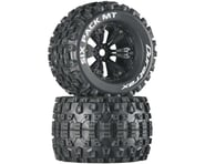 "DuraTrax Six Pack MT 3.8"" Pre-Mounted Truck Tires (Black) (2) (1/2 Offset) 