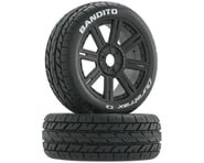 DuraTrax Bandito 1/8 Buggy Tire C3 Mounted Spoke Tires, Black (2) | alsopurchased